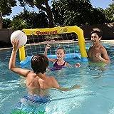 ZPeng Jeux de Piscine, Jouets de Piscine gonflables, Basket-Ball, Volley-Ball, Jeu de Handball, Jouets de Jeux de Natation pour Enfants et Adultes,handballdoor