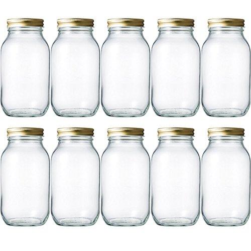マヨネーズ瓶 マヨネーズ900 927ml -10本セット- ((ふた)金70スクリュー)