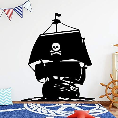 Tianpengyuanshuai mooie piratenschip, decoratie voor thuis, acryl, woonkamer, sticker, slaapkamer, afneembaar, kinderkamer