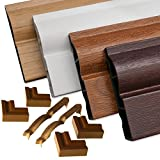 1 x English Oak Roomline PVC-u Door Frame Architrave Set - Everything for hassle-free fitting of realistic woodgrain door architrave with Zero-maintenance!