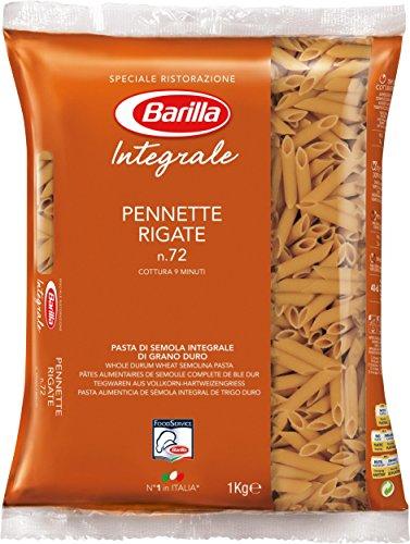 Barilla Vollkorn Pasta Pennette Rigate Integrale – 3er Pack (3x1kg)