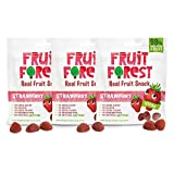 Fruit Forest Real Fruit Gummy Strawberry Pack of 3 | 100% Naturally Sweet Snack | No Added Sugar | for Kids & Adults | Vegan | Strawberry Flavour (3 X 30 GMS )