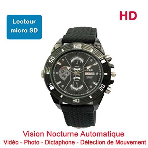 Reloj Mini Cámara Oculta espía HD 1280x 720de Lector de Micro SD visión Nocturna automática Cyber K dv69