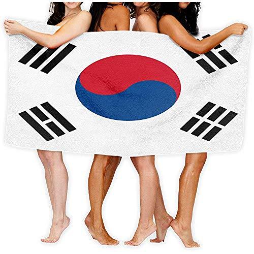 qinzuisp Zwembad handdoek Zuid-Korea Vlag Mode Over-Sized Beach Badhanddoeken 80X130cm