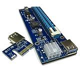 Digitalkey Riser USB V006-C MOLEX 6PIN e SATA - PCI-E 1 X a 16 X Cavo di Estensione USB 3.0 per Mining...