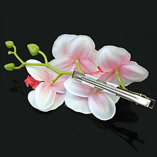 Ecloud Shop® Fashion Frau rosa Blüten Braut Haarnadel Haarschmuck Hawaii Party