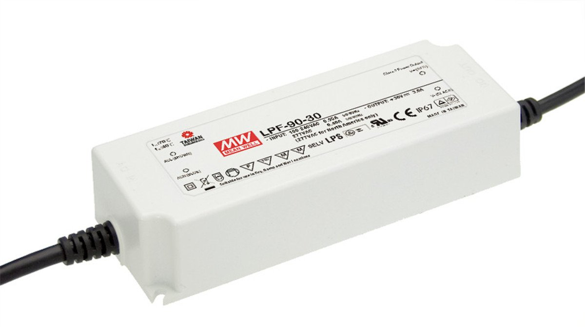 MEAN WELL LPF-90-24 90W Single Output 3.75 A 24 Vdc Output Max Switching Power Supply - 1 item(s)