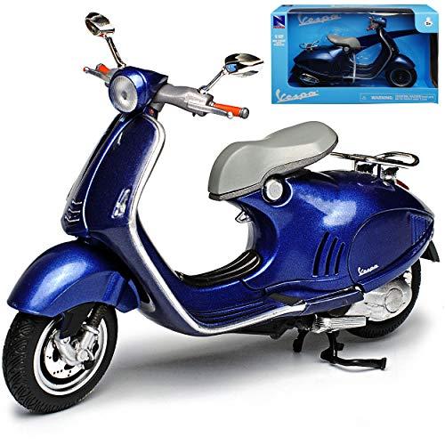 New Ray Vespa Piaggio 946 Blau Grau Ab 2013 1/12 Modell Motorrad mit individiuellem Wunschkennzeichen