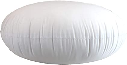 MoonRest Round Pillow Insert Hypoallergenic Polyester Form Stuffer-%100 Cotton Blend Covering for Sofa Sham, Decorative Pi...
