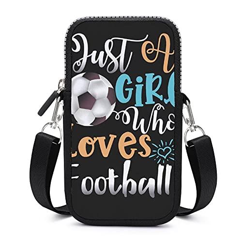 Bolso bandolera para teléfono móvil con correa de hombro extraíble para el fútbol, resistente al desgaste, para llaves de cintura, bolsas de yoga para niños