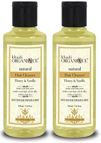 Glamorous Hub Khadi Organique - Champú/limpiador para el cabello con miel y vainilla, paquete de 2 (el paquete puede variar)