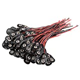 uxcell 100pcs DC 9V Battery Clip I-Type Buckle Connector Lead Wire 10cm Long