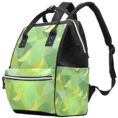 Special Banana Pattern Travel Rucksack Casual Daypack Maternity Nappy Bag Organizer Nursing Bottle Bag