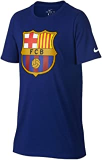 Nike Youth FC Barcelona Crest T-Shirt [DEEP Royal Blue]