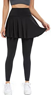 Joyshaper Tennis Skirt with Leggings, Women's Active Athletic Skort with Pockets Pleated Mini 2 in 1 Activewear Pants Basi...