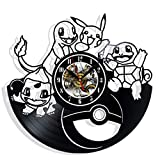 Vinyl Revolt Record Wall Clock Compatible with Pokemon Gift Surprise Ideas Best Friends Birthdays...