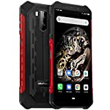 Ulefone Armor X5 Rugged Smartphone, 5000mAh Battery 5.5Inch 3GB 32GB(up to256GB) 4G Unlocked Smartphones, IP68 Waterproof Global Version Dual SIM Face ID NFC OTG Android Mobile Phones Red