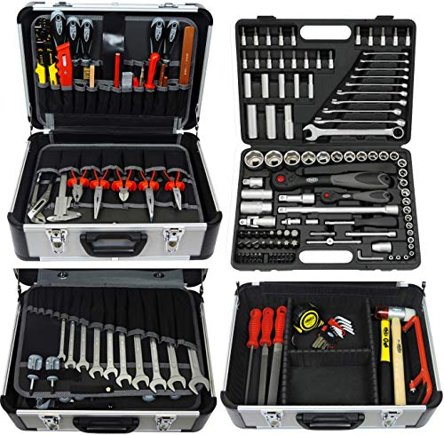 FAMEX 419-44 Mechaniker Werkzeugkoffer Komplettset, 174/214-teilig