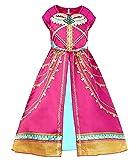 VersusModa Simile Jasmine Vestito Carnevale Fucsia Bambina Donna Cosplay Costume JASMDIR01 (Bambina, 120)