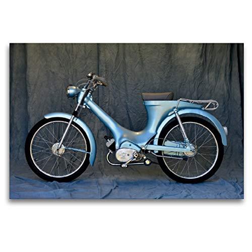 Premium Textil-Leinwand 120 x 80 cm Quer-Format Heinkel Perle Baujahr 1955 | Wandbild, HD-Bild auf Keilrahmen, Fertigbild auf hochwertigem Vlies, Leinwanddruck von Ingo Laue