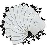 AIRNEX 20pcs Activated Carbon Filter Refills for Masks - 5 Layers Protection PM2.5 Cycling Mask Filter Replacement - Suitable Replacement Filters for Neoprene, Mesh, Sport and Dust Mask