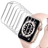 VASG [8 Stück] Schutzfolie Kompatibel mit Apple Watch Series 6/5/4/SE 40mm Klar HD Weich TPU Folie Nicht Glas Blasenfreie Bildschirmschutz