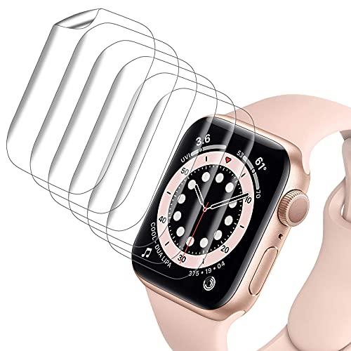 VASG [8 Unidades] Protector Pantalla Compatible con Apple Watch Series 6 / Series 5 / Series SE 40mm Transparente HD Suave de TPU Protector de Pantalla Sin Burbujas Sensible al Tacto