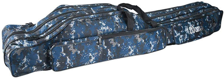 Portable Folding Fishing Rod Box Fishing Rod Reel Storage Bag Fishing Gear Storage Box