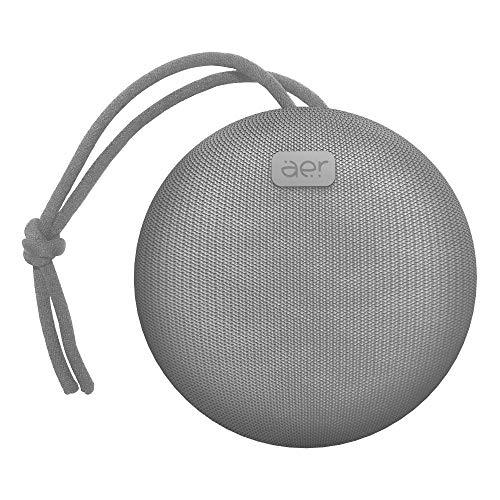 Caixa de som sem fio, Bluetooth, à prova d´água, 5W RMS, AERBOX, Cinza, AER by Geonav, AERCX01GR