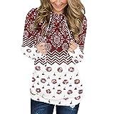 Boho Hooded Sweatshirt for Women, Vintage Print Drawstring Long Sleeve Hoodies Pullover Workout Tops...
