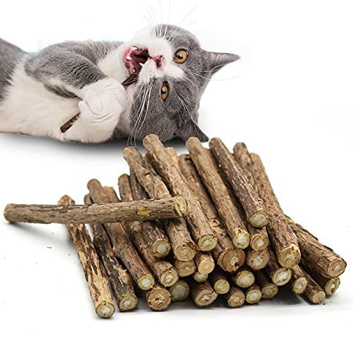 OneBarleycorn - Palitos de Catnip para Gatos, Juguete para morder para Gatos Natural Matatabi Dental, Paquete de 30 Unidades