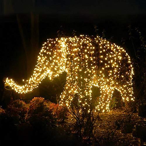 Guirnalda de luces para jardín, 100 ledes, solar, luces de hada al aire libre, impermeable, guirnalda casas, Navidad, jardín, decoración