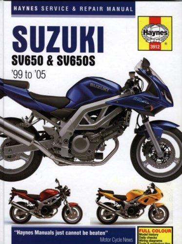 Suzuki SV650 Service and Repair Manual: 1999 to 2005 (Haynes Service and Repair Manuals)