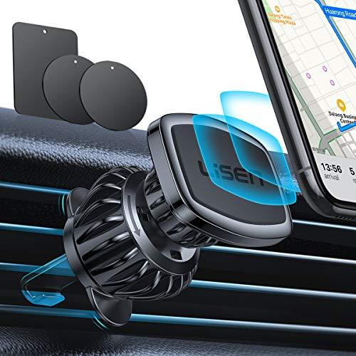 LISEN Handyhalterung Auto Magnet, [6 Starke Magnete] Magnethalter Handy Auto [Upgraded Haken CLAMP] Magnet Handyhalterung fürs Auto [360°Drehbar] KFZ Handyhalterung Magnet Für iPhone Samsung Huawei