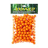 AOOHYEO Paintballs .43Cal Rubber Ball - Reusable 0.43 Caliberl Riot Solid Soft Rubber Paint Balls Non-Lethal Indoor Training Outdoor Combat Shooting Recyclable Paint Balling Guns Ammo