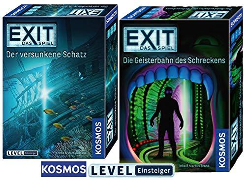 EXIT – Staffel VI: Geisterbahn des Schreckens + Kosmos Spiele 694050 Spiel - Der versunkene Schatz
