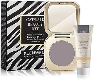 Keenwell, Kit Sombra de Ojos Color Topo oscuro Medio Brillo+: Amazon.es: Belleza