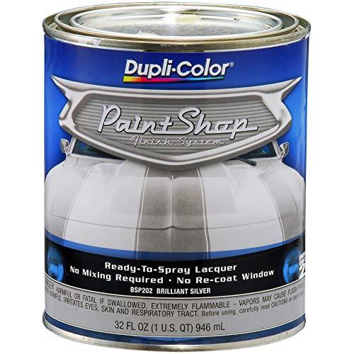 Dupli-Color (BSP202-2 PK 'Paint Shop' Brilliant Silver (Metallic) Finish System Base Coat – 1 Quart, (Case of 2)