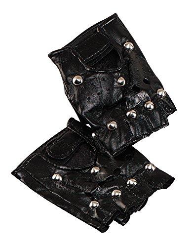 Bristol Novelty BA187 Punk Handschuhe mit Bolzen, schwarz, Einheitsgröße