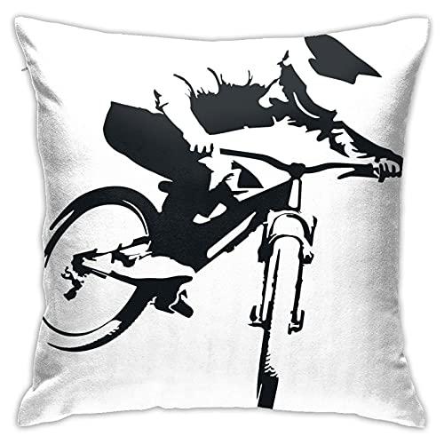 kasonj Funda de almohada cuadrada de lino de 45 x 45 cm para bicicleta de carretera adecuada para la universidad de las personas mayores de la escuela secundaria