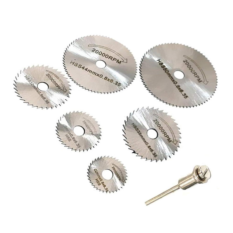 返還桁放射能スリッターブレード 切断鋸 超硬丸鋸刃 HSS鋼 砥石ソーブレード 6枚入りセット 鋸刃 木工用ブレード ロータリー工具 (銀色)
