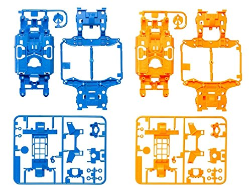 タミヤ ミニ四駆特別企画商品 MSカラーシャーシセット ライトブルー・オレンジ 95386