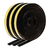 EXTSUD 15M Guarnizione Adesiva in Schiuma per Porte Finestra Nastro Sigillante Autoadesiva Porta Insonorizzata Antispiffero Antivento Striscia Sigillatura Paraspifferi Antipolvere (15m*12mm)