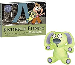 Mo Willems Knuffle Bunny Rabbit Toys 12.25 Stuffed Animal with Knuffle Bunny Book Hardcover by YOTTOY