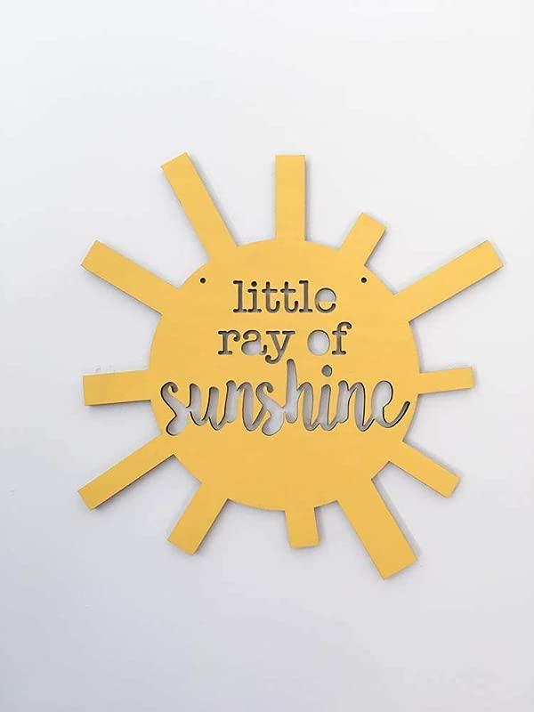 Little Ray Of Sunshine Wall Art Nursery Wall Decor Kids Room Sign Modern Kids Room Wall Art
