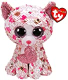 TY36340 Flippables Small Cupid The Cat Sequins Soft Toy, 15 cm, Multi-Coloured