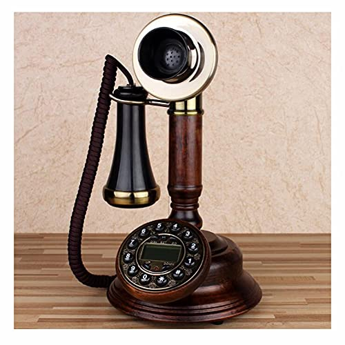 LIUNA Moda Antiguo telefono Antiguo Estilo Americano Teléfono de casa dial Giratorio Retro inalámbrico Tarjeta Teléfono Fijo Reparado Teléfono