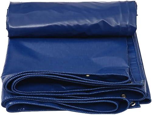 Yetta Tente extérieure bache imperméable extérieure avec Tente de Couverture en Tissu résistant à la Pluie de Toile imperméable Robuste oeillet (Couleur   bleu, Taille   4×3m)