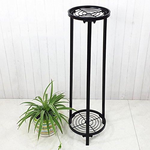 Étagère en bois vert simple salon balcon étagère en fleurs Créative Chlorophytum iron flower ( Couleur : Noir , taille : 28*31*101cm )