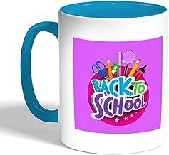 back to school Printed Coffee Mug, Turquoise Color (Ceramic)